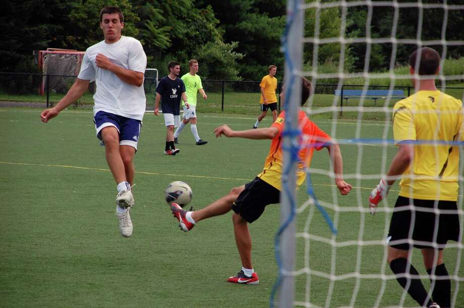 The Preston Hirten Weekend -- staged in honor of the late Staples High School soccer player -- means soccer, and there was lots of it at Wakeman Fields on Saturday. Photo: Jarret Liotta / Westport News contributed