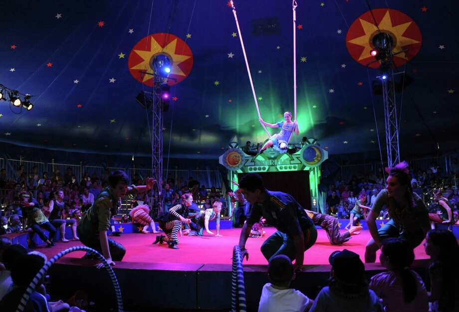 Circus Smirkus, the acclaimed international youth circus, performs a Wizard of Oz themed show at the Saratoga Race Course presented by The Waldorf School on Saturday July 6, 2013 in Saratoga Springs, N.Y. (Michael P. Farrell/Times Union) Photo: Michael P. Farrell / 00023050A