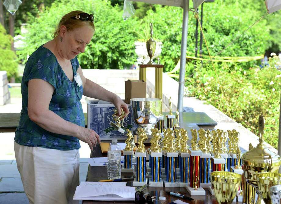 Volunteer Laurie Finkel during the 90th Annual Round Hill Highlander Games at Cranbury Park in Norwalk, Conn. on Saturday July 6, 2013. Photo: Christian Abraham / Connecticut Post