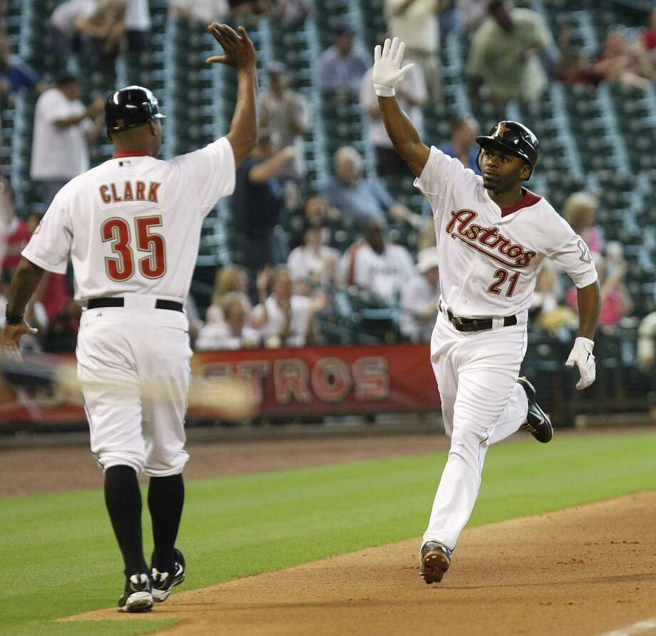 2010: Michael Bourn  Born finished the season with 2 home runs and a .265 batting average, his second highest average since he joined the Astros in 2008. Photo: Johnny Hanson, Chronicle / © 2011 Houston Chronicle