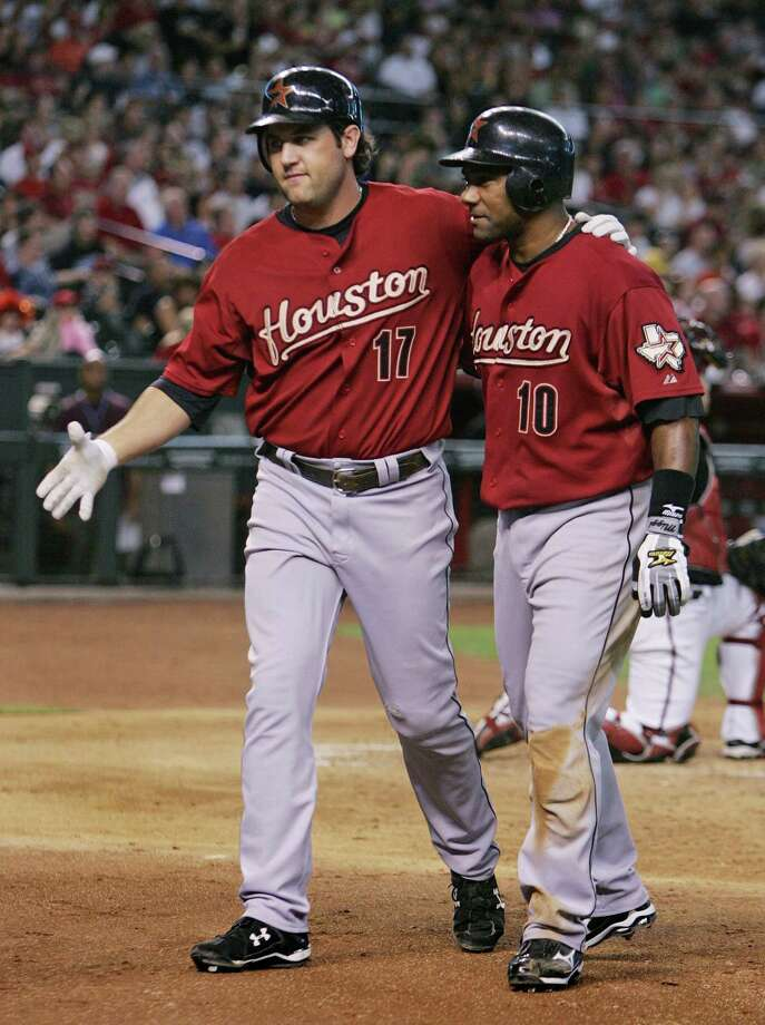 2008: Lance Berkman and Miguel Tejada This was the last All-Star game for Berkman as an Astro and the first for Tejada as an Astro. Photo: David Kadlubowski, AP