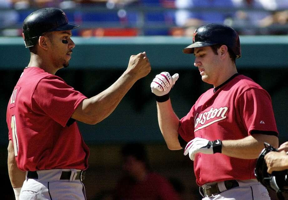 2001: Moises Alou and Lance Berkman Berkman's first All-Star game ended with one hit in two at-bats in a 4-1 National League loss. Photo: TONY GUTIERREZ, AP