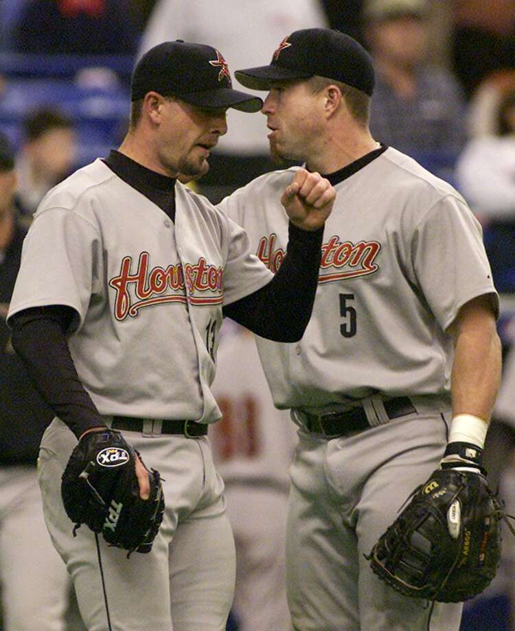 1999: Jeff Bagwell and Billy Wagner This was Bagwell's last All-Star game as an Astro and Wagner's first. Photo: ANDRE FORGET, AP