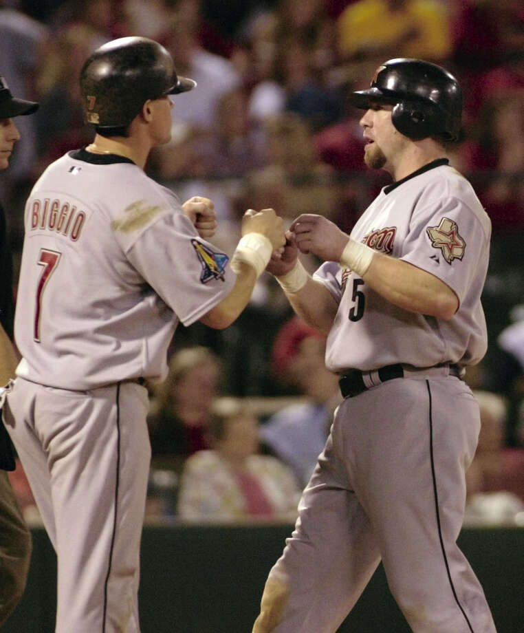 1997: Craig Biggio and Jeff Bagwell Biggio matched a career-high 22 home runs as he helped the Astros win the central division.This was the last All-Star game that Bagwell and Biggio played together. Bagwell finished the year with 43 home runs and 135 RBIs. Photo: TOM GANNAM, AP