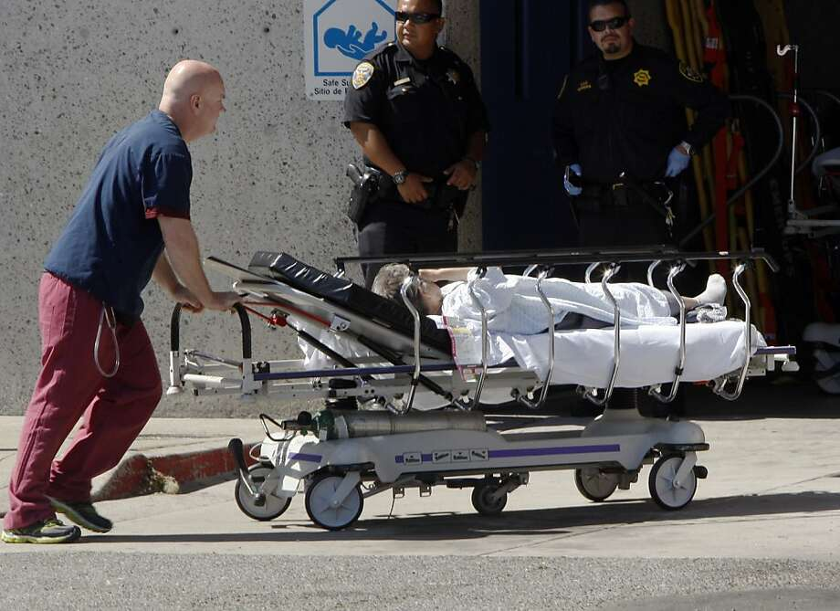 Scenes from SF general where patients from the Boeing 777 crash are being brought in on Saturday, July 06, 2013 in San Francisco, Calif. Photo: Rohan Smith, The Chronicle