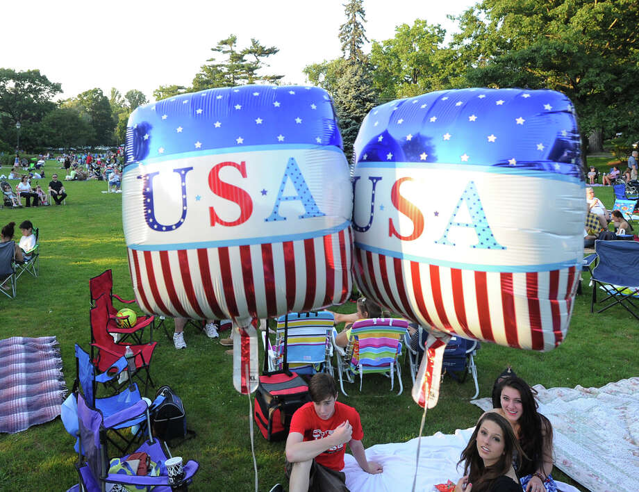 Scene prior to the Town of Greenwich fireworks show at Binney Park in Old Greenwich, Saturday, July 6, 2013. Photo: Bob Luckey / Greenwich Time