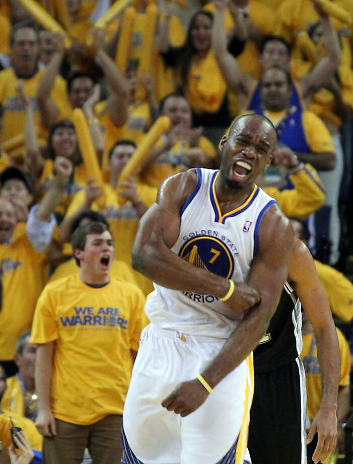 Carl Landry celebrates a score against the Spurs in the second round. Photo: Lance Iversen, The Chronicle
