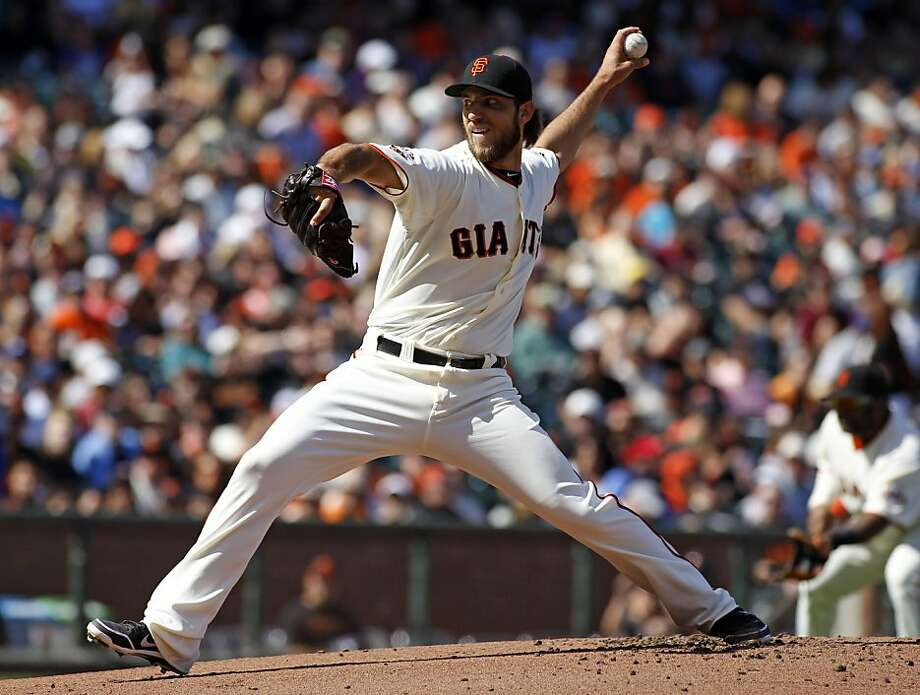 Madison Bumgarner pitched seven strong innings on the day he was named to the NL All-Star team. Photo: George Nikitin, Associated Press