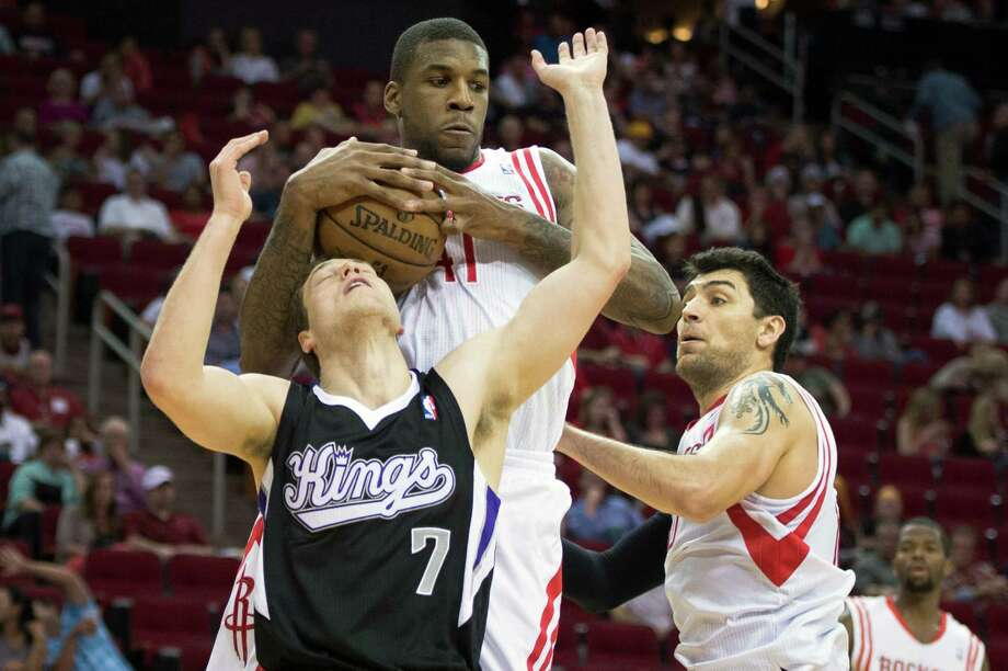 Rockets' additions and subtractions of forward Thomas Robinson, top, and guard Carlos Delfino were among a host of moves that led to Dwight Howard. Photo: Smiley N. Pool, Staff / © 2013  Houston Chronicle