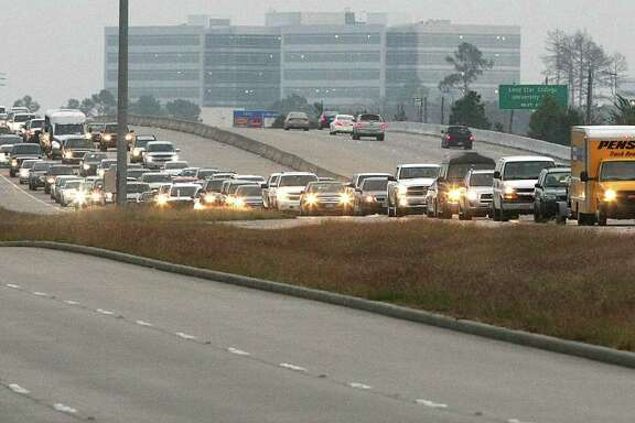 Evening rush hour congestion on Highway 249, Friday, Dec. 14, 2012, in Houston.  ( Nick de la Torre / Houston Chronicle )