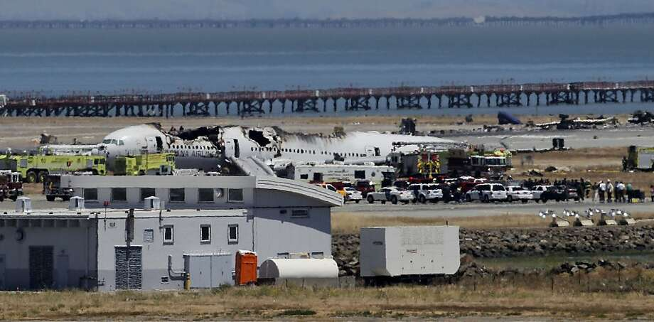 Asiana Airlines Flight 214 was traveling so far below the intended speed that it nearly stalled before it crash-landed Saturday. Photo: Michael Macor, The Chronicle