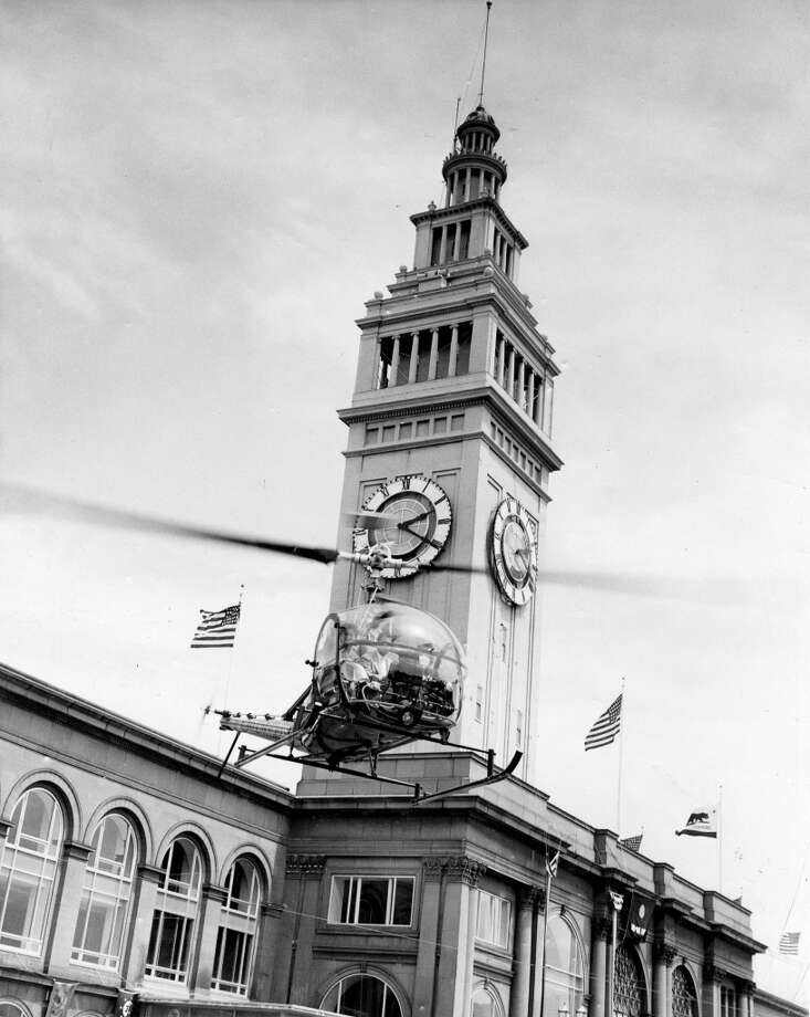 Barbara Brannan arrives at the Ferry Building May 23, 1956.