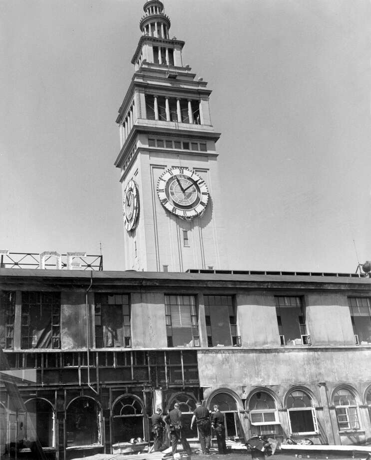 Ferry Building fire, July 14, 1962.