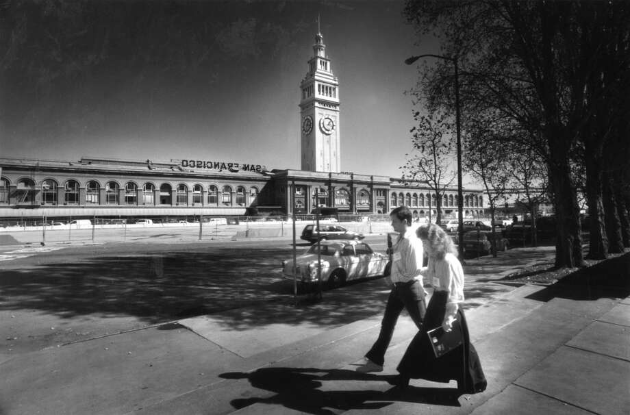 With the Embarcadero Freeway removed, visitors enjoy views that haven't been seen for over 30 years, October 15, 1991.
