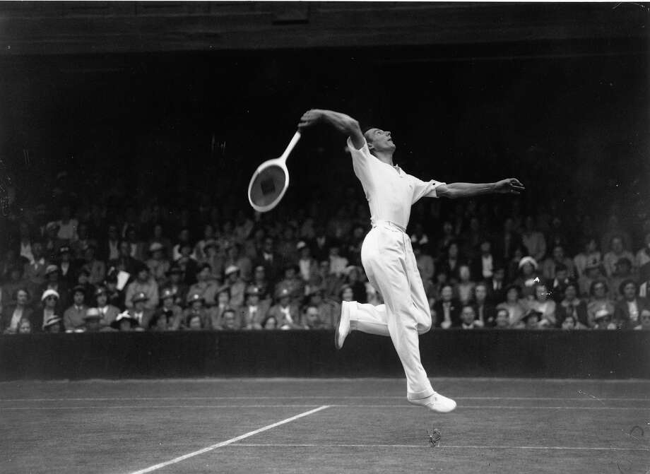 Before Andy Murray ended the Great British Drought at Wimbledon, Fred Perry, in 1936, was the last British man to win the singles title. Here's what tennis looked like then. Photo: Hudson, Getty Images / Hulton Archive
