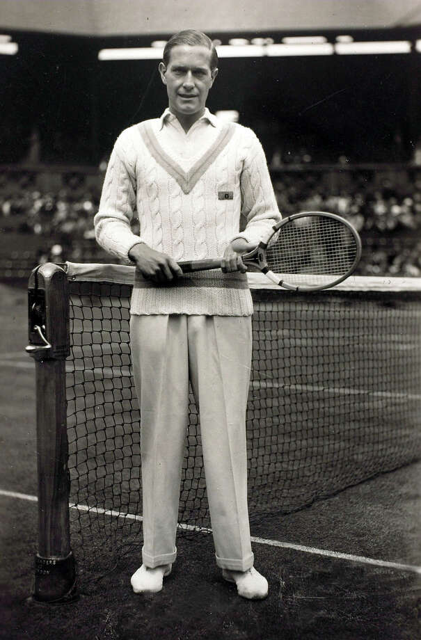 Baron Gottfried Von Cramm, a German nobleman who won the French Open Tennis Men's Singles title in 1934 and 1936 lost to Fred Perry in 1936. Photo: Bob Thomas/Popperfoto, Popperfoto/Getty Images / Popperfoto