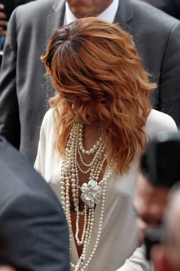 Singer Rihanna arrives to attend Chanel's Haute Couture Fall-Winter 2013-2014 collection, presented Tuesday, July 2, 2013 in Paris. Photo: AP