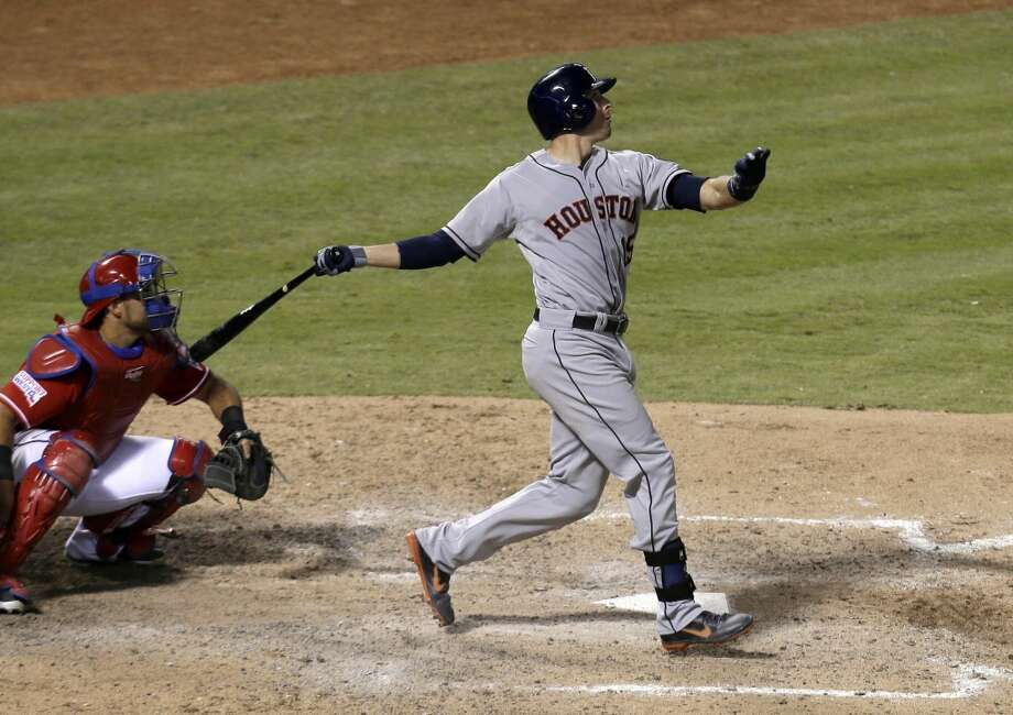 July 6:  Astros 9, Rangers 5Jason Castro's three-run shot in the seventh inning broke open a 4-4 ball game and propelled the Astros to victory.  Record: 32-56. Photo: Tony Gutierrez, Associated Press