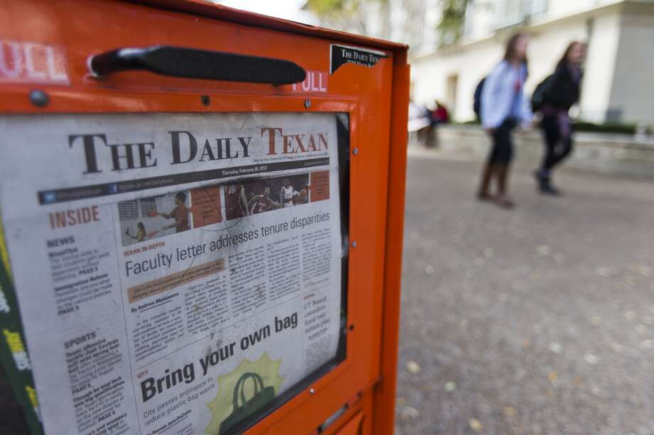 The Daily Texan, the student newspaper at the University of Texas, might cease being a daily as a result of declining revenue. The Texas Student Media board considered the matter Friday. Photo: Ricardo B. Brazziell, Austin American-Statesman