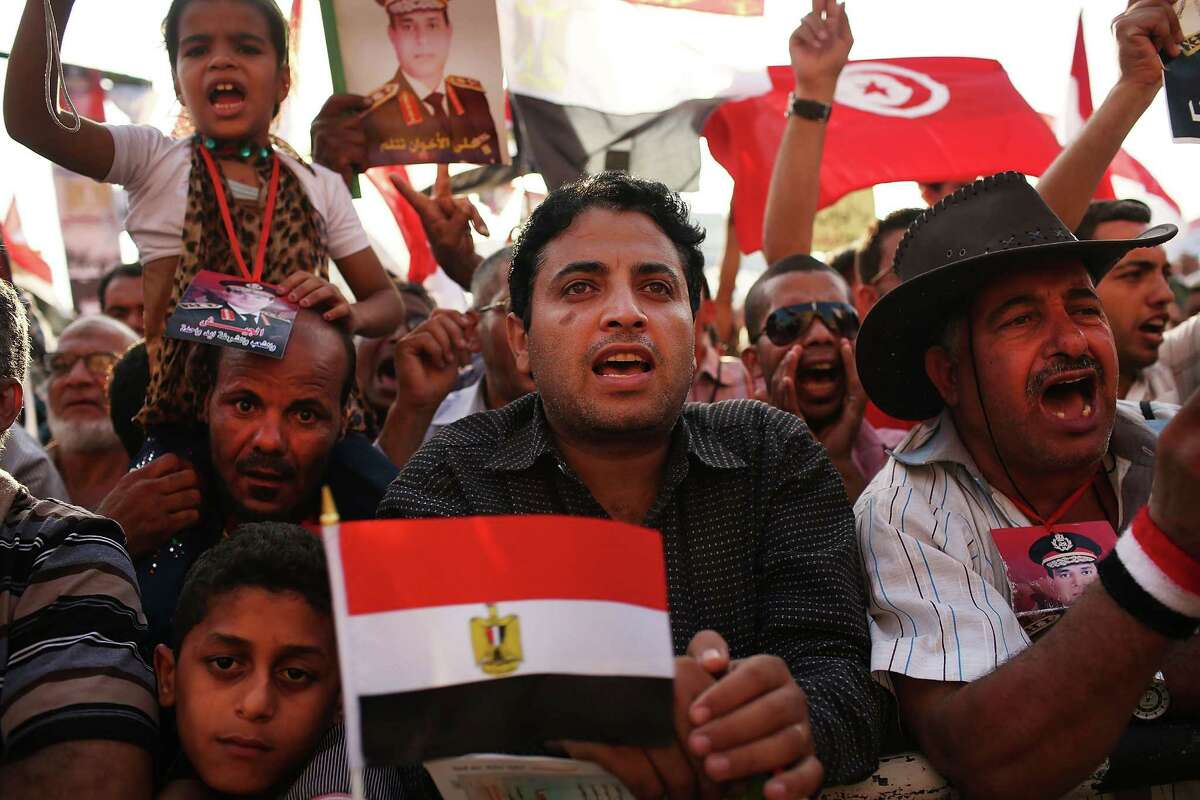 A large rally was held in Tahrir Square on Sunday against ousted Egyptian President Mohammed Morsi as Egypt remains in a state of political paralysis.