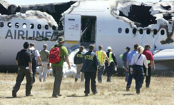 The National Transportation Safety Board tweeted photos of their investigation of Asiana airliner crash at San Francisco International Airport Saturday, July 6, 2013. Photo: NTSB