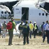 The National Transportation Safety Board tweeted photos of their investigation of Asiana airliner crash at San Francisco International Airport Saturday, July 6, 2013.
