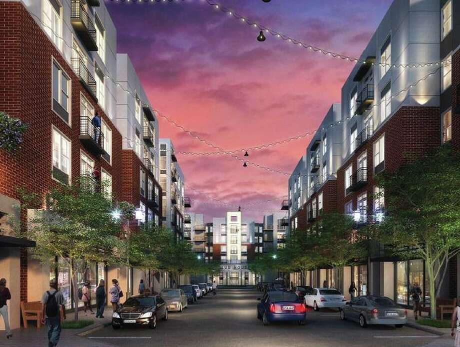 A new apartment complex that will open in the fall of 2014 is an example of the trend of luxury student living thriving in college towns around the country. The North Point Crossing targets Texas A&M students. Photo: Courtesy Photo