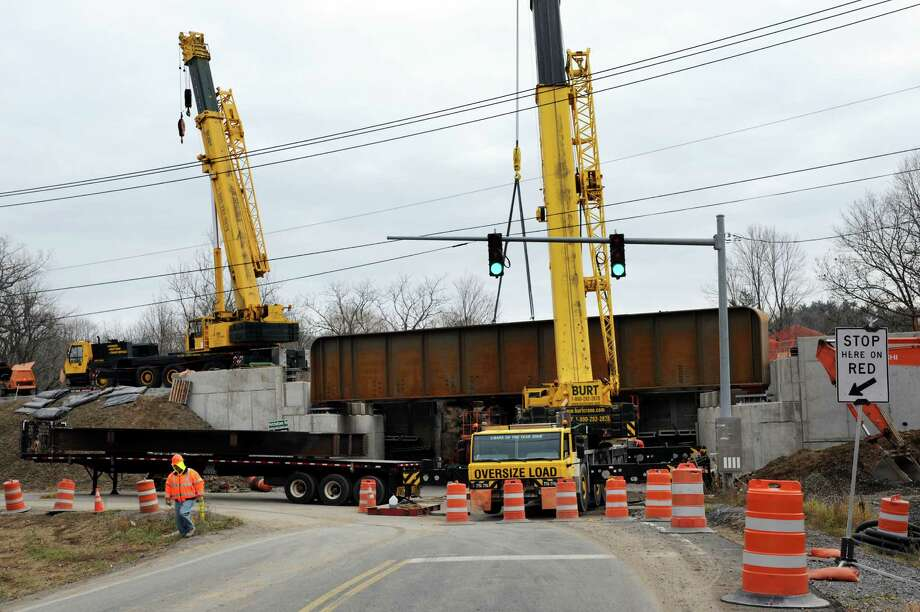 Construction on Glenridge Road railroad bridge on Wednesday, Nov. 28, 2012, in Glenville, N.Y. (Cindy Schultz / Times Union) Photo: Cindy Schultz / 00020264A