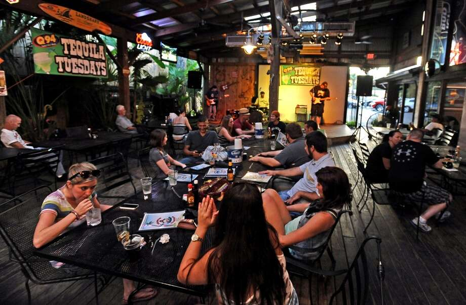 The patio fills up for Tequila Tuesday and Musician's Night at Starvin Marvin's in Beaumont on Tuesday, June 25, 2013. Photo taken: Randy Edwards/The Enterprise