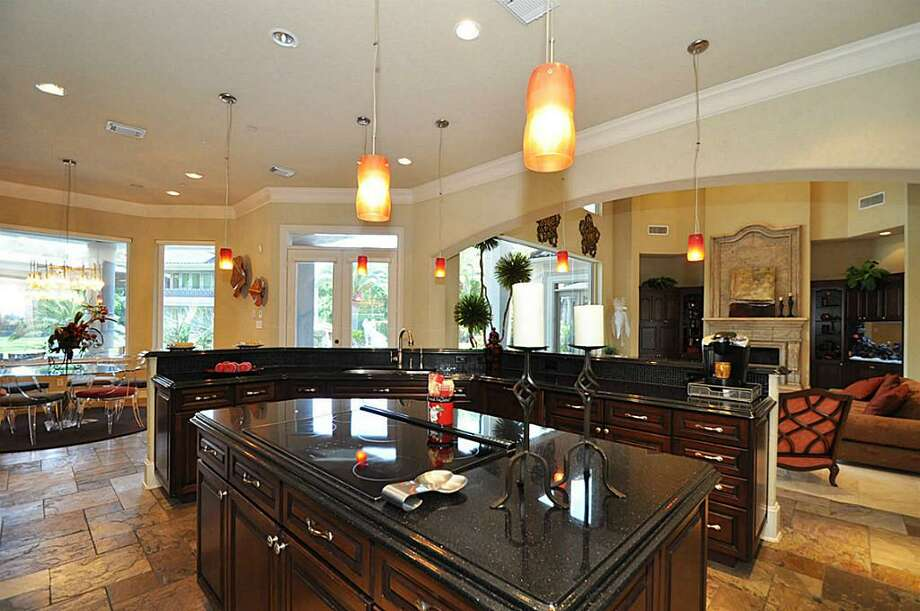 The home comes with a gorgeous kitchen.