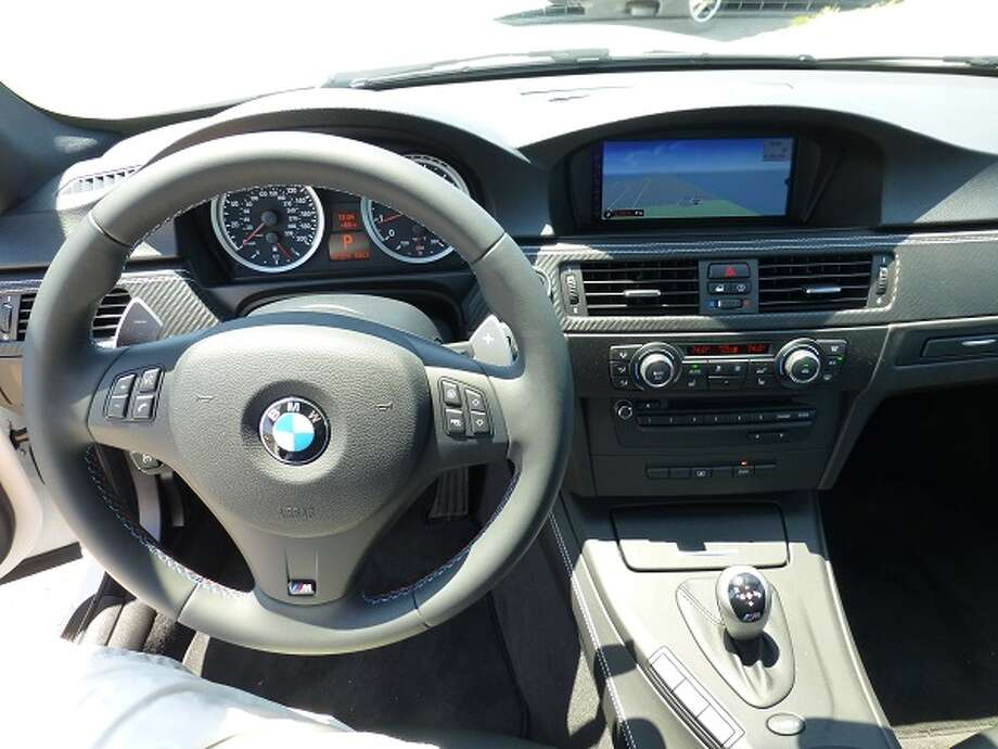 The seven-speed dual-clutch automatic transmission can be shifted manually with the paddle shifters mounted on the steering wheel.