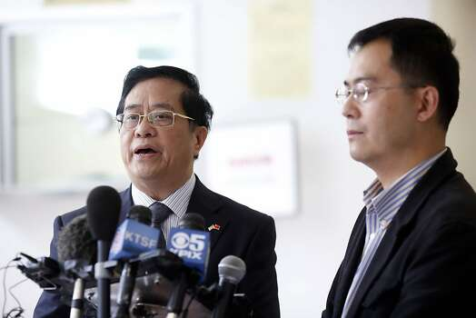 Consul General of the People's Republic of China Yuan Nansheng speaks to the press during a press conference at the Chinese Consulate building about the Chinese nationals aboard the Asiana Boeing 777 that crash landed at San Francisco International Airport in San Francisco, Calif. on July 7, 2013. Photo: Ian C. Bates, The Chronicle