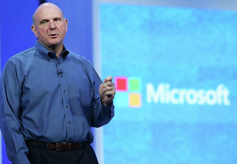 Then Microsoft CEO Steve Ballmer speaks during the keynote address during the Microsoft Build Conference on June 26, 2013 in San Francisco. Photo: Justin Sullivan, Getty Images / 2013 Getty Images