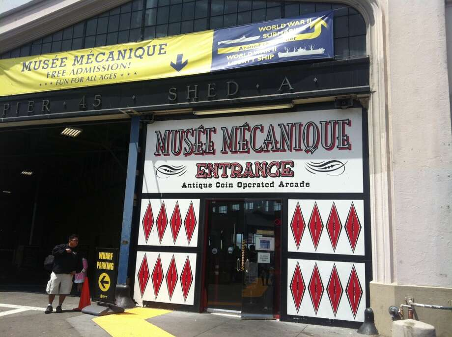 The low-key (and free!) entrance to the Musee Mecanique.