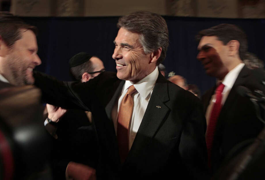 Anita Perry as well as Perry's spiritual friends and supporters said his campaign was part of a mission from God. Photo: Carolyn Cole, McClatchy-Tribune News Service / Los Angeles Times
