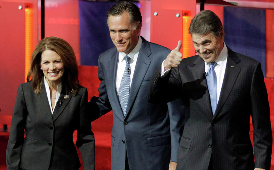 During the first few debates, opponents—Michele Bachmann in particular—attacked Perry's mandate to have Texas girls vaccinated for HPV. Photo: Jae C. Hong, Associated Press / AP