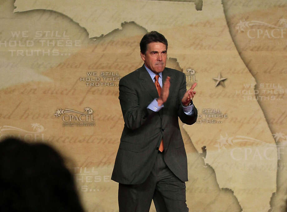 Perry initially pumped up Texas' strong job record and promised to create jobs across America as president. Photo: Mark Wilson, Getty / 2011 Getty Images
