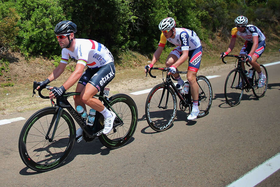 Mark Cavendish of Great Britain and Omega Parma-Quick Step in action during stage one of the 2013 Tour de France, a 213KM road stage from Porto-Vecchio to Bastia, on June 29, 2013 in Bastia, France. Photo: Bryn Lennon, Getty Images / 2013 Getty Images