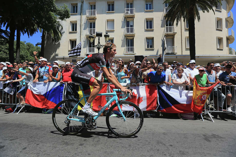 Andy Schleck of Luxembourg and Radioshack Leopard rides past the fans during stage two of the 2013 Tour de France, a 156KM road stage from Bastia to Ajaccio, on June 30, 2013 in Bastia, France. Photo: Doug Pensinger, Getty Images / 2013 Getty Images