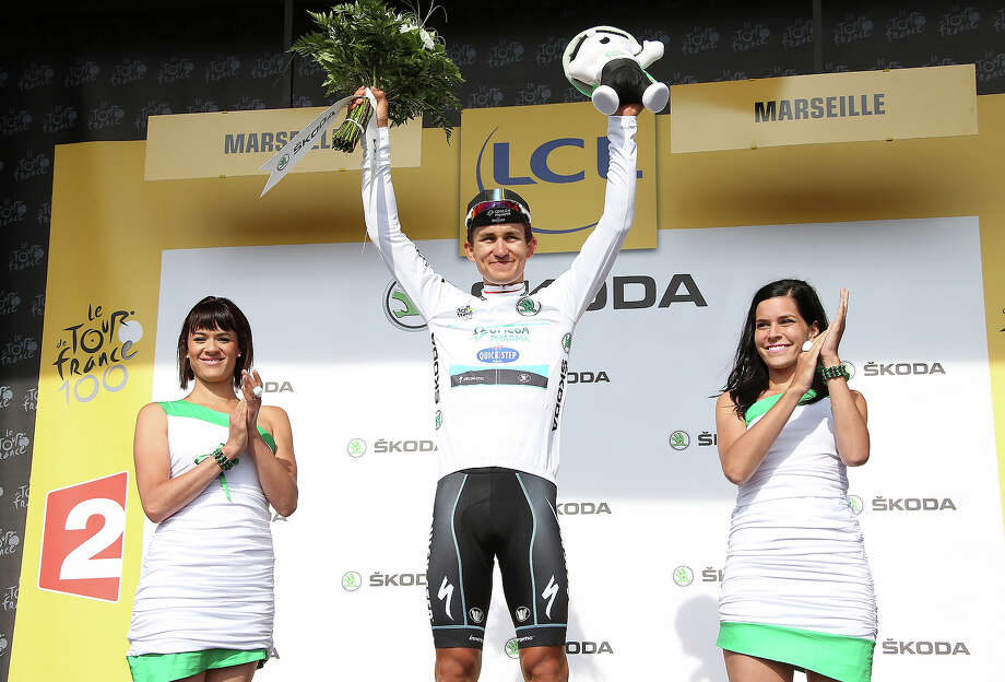 Michal Kwiatkowski of Poland and Team Omega Pharma Quick-Step keeps the best younger's white jersey after Stage Five of the Tour de France 2013 - the 100th Tour de France -, a 228km road stage from Cagnes-sur-Mer to Marseille on July 3, 2013 in Marseille, France. Photo: John Berry, Getty Images / 2013 John Berry