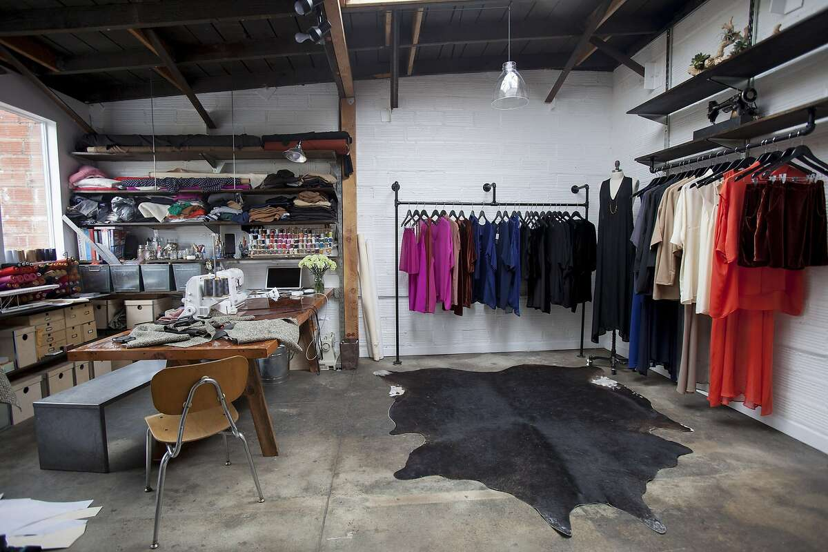 An interior view of fashion designer Ali Golden's store in Temescal Alley in Oakland, Calif. on Saturday, March 24, 2012.