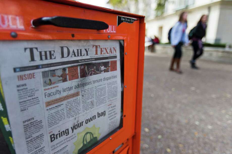 The Daily Texan, the student newspaper at the University of Texas, might cease being a 5-day-a week publication as a result of declining revenue. Photo: Ricardo Brazziell, Photojournalist / AUSTIN AMERICAN-STATESMAN