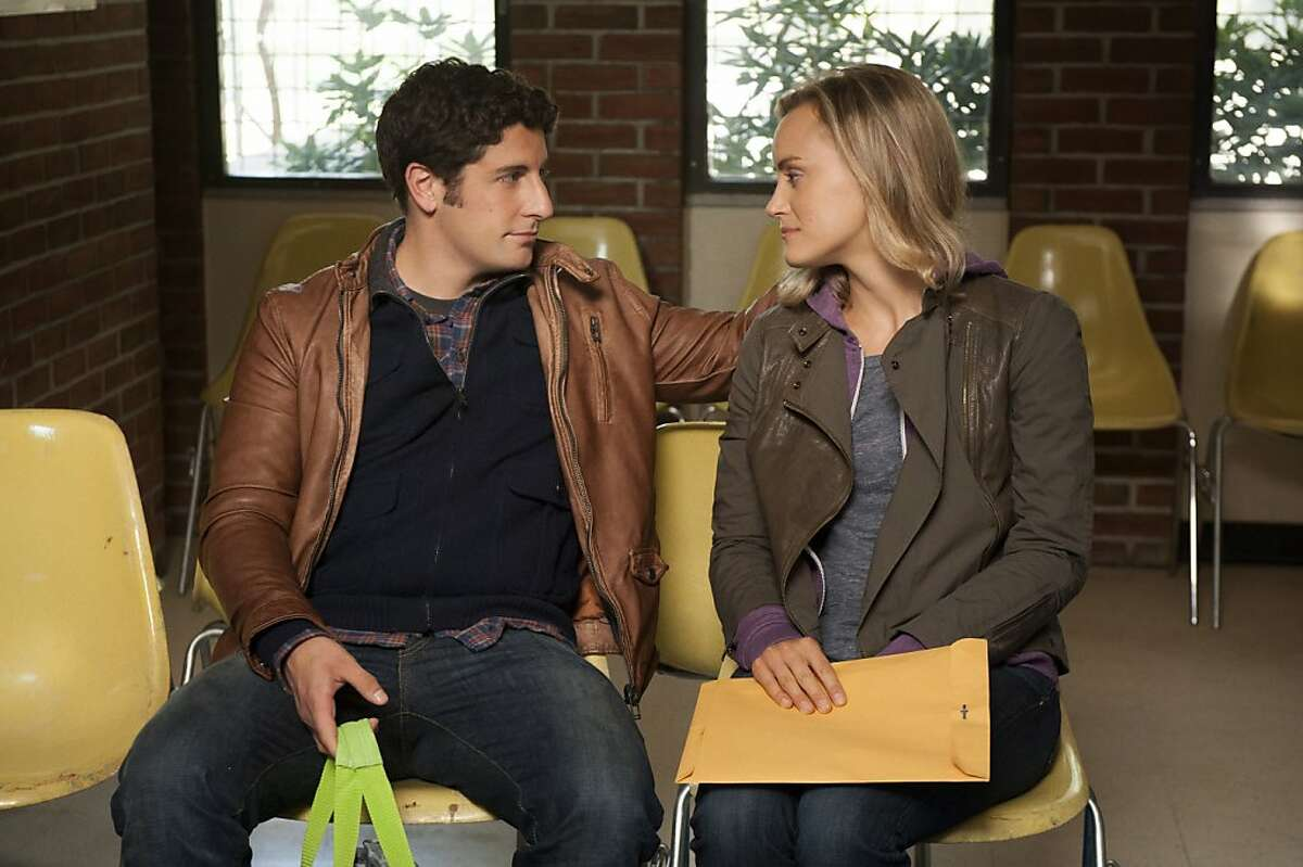 """Jason Biggs and Taylor Schilling in a scene from Netflix's """"Orange is the New Black."""""""