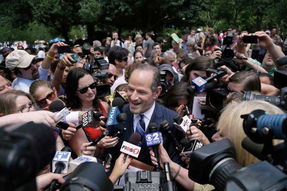 Five years after a scandal cost him his job, former New York Gov. Eliot Spitzer has launched a comeback. Photo: Seth Wenig, STF / AP