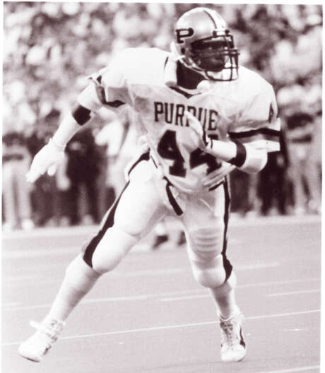 Kevin Sumlin played linebacker at Purdue but was moved to offense as an assistant coach under Mike Price at Washington State. / Texas A&M sports information