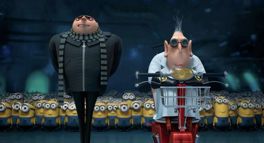 "This film publicity image released by Universal Pictures shows characters Gru, voiced by Steve Carell, left, and Dr. Nefario, voiced by Russell Brand, in ""Despicable Me 2.""  (AP Photo/Universal Pictures) ORG XMIT: CAPH158 / Universal Pictures"