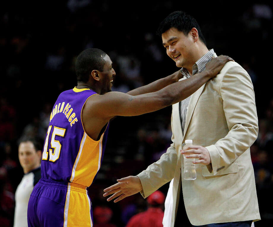 Metta World PeaceThe basketball player formerly known as Ron Artest is known for having a short temper. The former Rocket has had several suspensions throughout the course of his career for being too aggressive on the court. Photo: James Nielsen / © 2012 Houston Chronicle