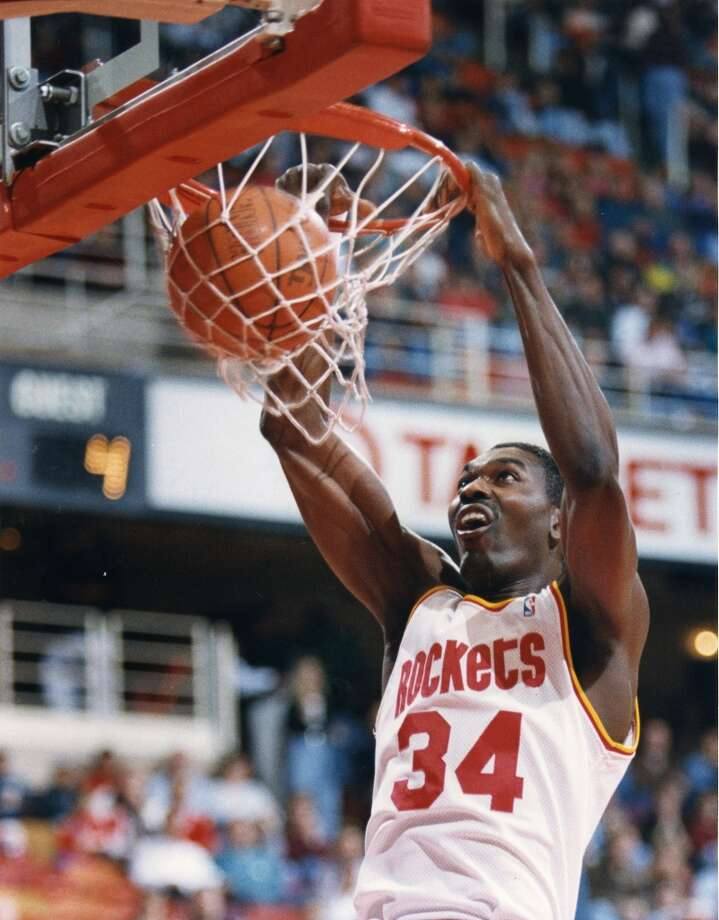 Hakeem Olajuwon  'The Dream' is easily the most recognizable Rocket in team history. He helped lead the franchise to its two championships in 1994 and 1995 and was a 12-time All-Star.  Photo: File Photo, Houston Chronicle