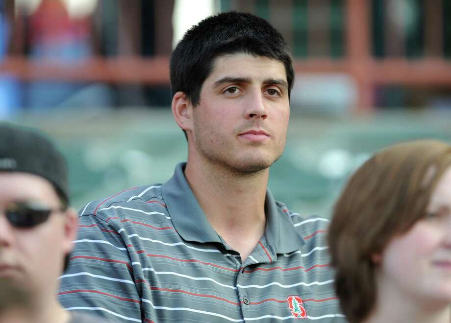 Mark Appel, the No. 1 pick in the MLB draft, sits behind homeplate during a game against Aberdeen at Bruno Stadium on Monday, July 8, 2013 in Troy, N.Y. (Lori Van Buren / Times Union) Photo: Lori Van Buren / 00023094A