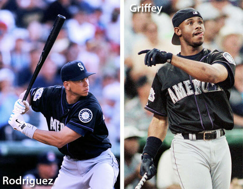 1998 | Ken Griffey Jr., Alex Rodriguez Location: Coors Field, Denver | Result: AL 13, NL 8In the All-Star Game, Griffey went 2-for-3 with an RBI and a stolen base, and A-Rod went 2-for-3 with a solo home run. For the full season, Rodriguez led the league with 213 hits and had 42 homers -- trailing only Griffey, who had 56 dingers again in '98. Photo: Getty Images